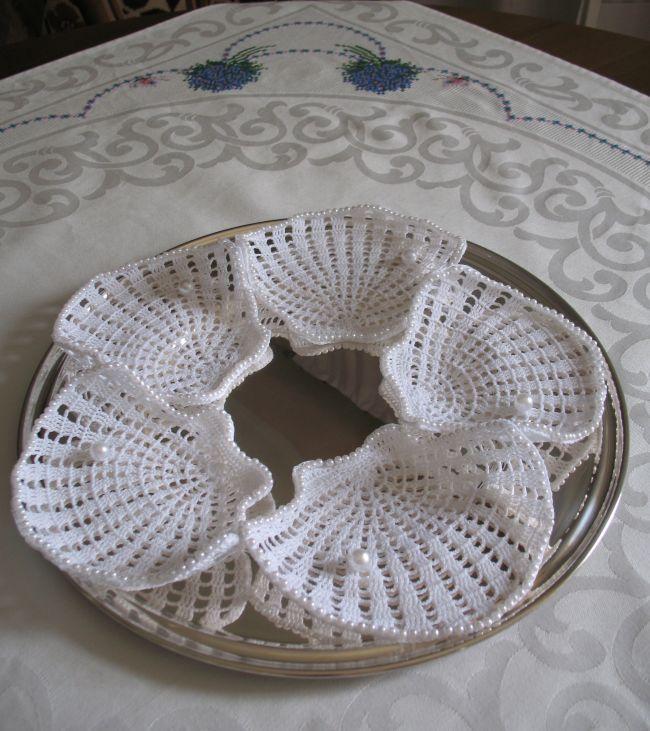 Bomboniere conchiglie a uncinetto con perline x silvana inserita il 9