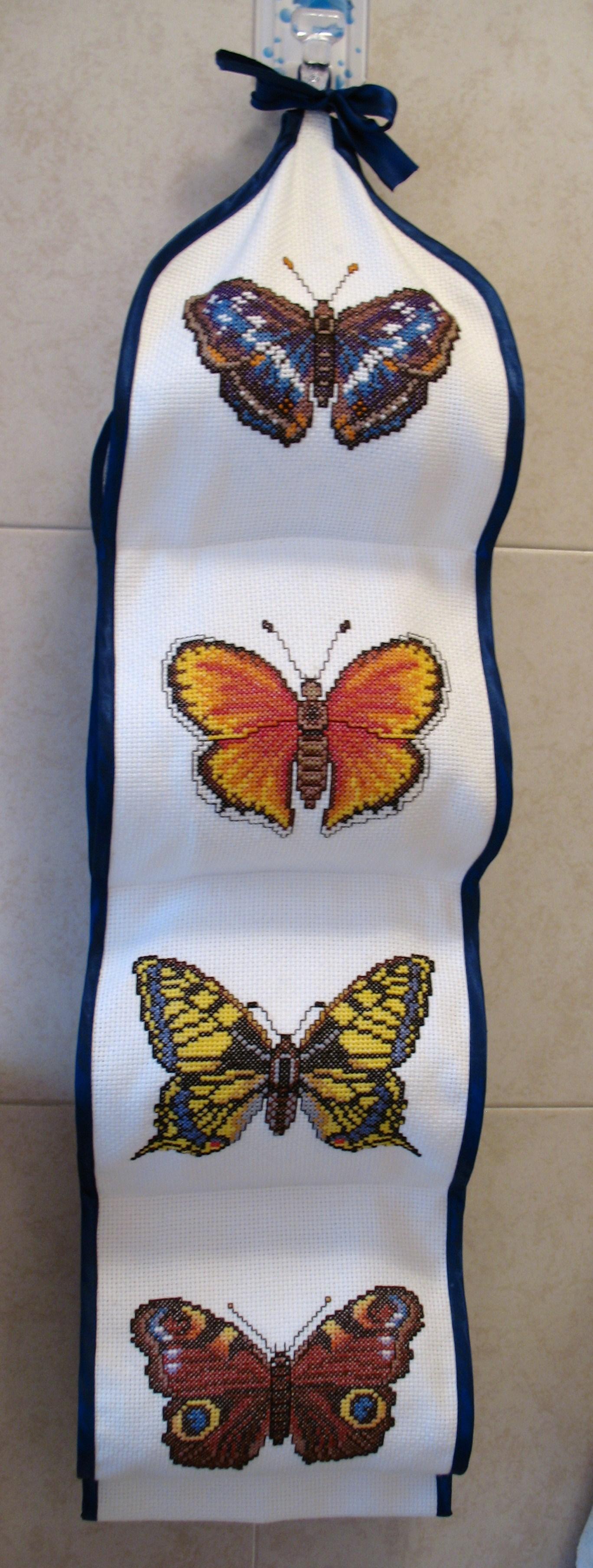 porta rotoli per il bagno con farfalle dallalbum di barbara69
