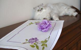 Copri vassoio con rose violetta e la dolce Sissi