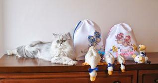 Sacchetti porta scarpette bimba+bimbo con Sissi
