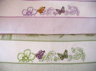 Strofinacci Farfalle violetta e verde