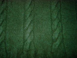 Dettaglio maglia verde