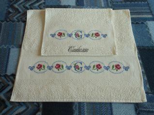 Coppia asciugamani avorio - Giulia _1