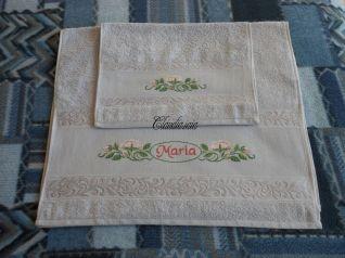 Coppia asciugamani grigi - Maria