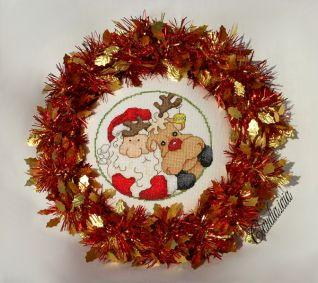 Fuoriporta Babbo Natale e Rudolph_finito