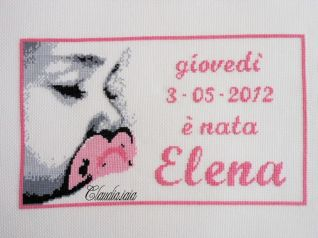 Quadro nascita Elena
