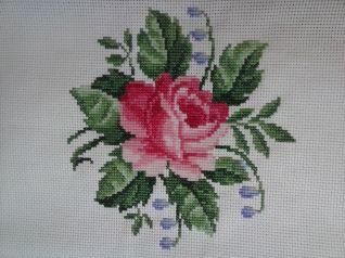 Rosa  e fiori lilla