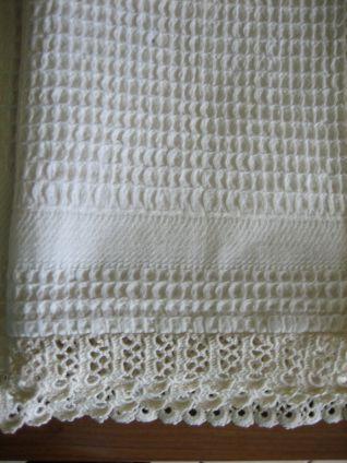 coppia asciugamani nido d'ape