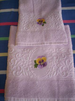 asciugamani viole