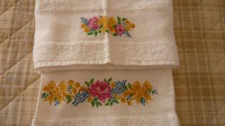 asciugamani fiori
