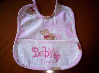 bavetta baby rosa cuore