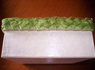 scatola girasole particolare passamaneria