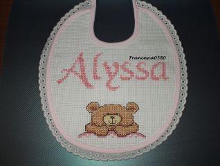 Bavaglino Alyssa con orsetto