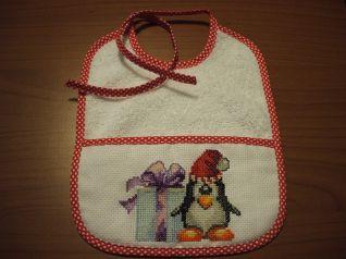 bavaglino pinguino Natale