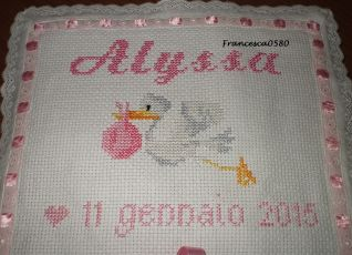 nascita Alyssa cicogna - particolare