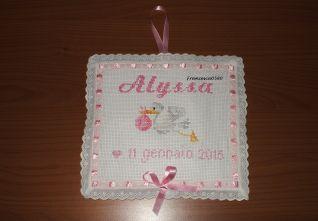 nascita Alyssa cicogna