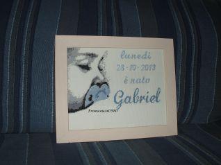 Quadretto nascita Gabriel