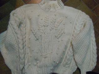 maglione,trecce d'irlanda