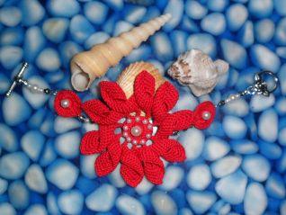 bracciale rosso fiore