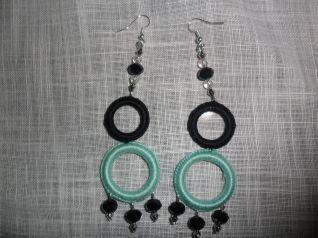 orecchini verde acqua e nero