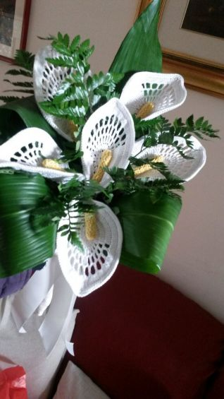 Bouquet da sposa calle uncinetto