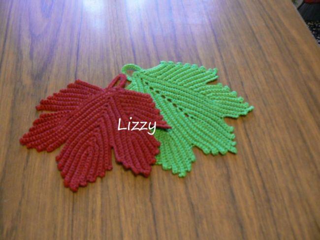 Presine Uncinetto Foglia Dallalbum Di Lizzy