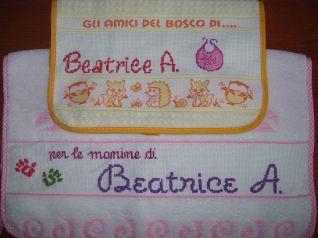 Bavaglino ed asciughino di Beatrice