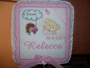 Fiocco nascita di Rebecca