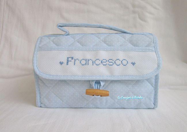 beauty case personalizzato per Francesco