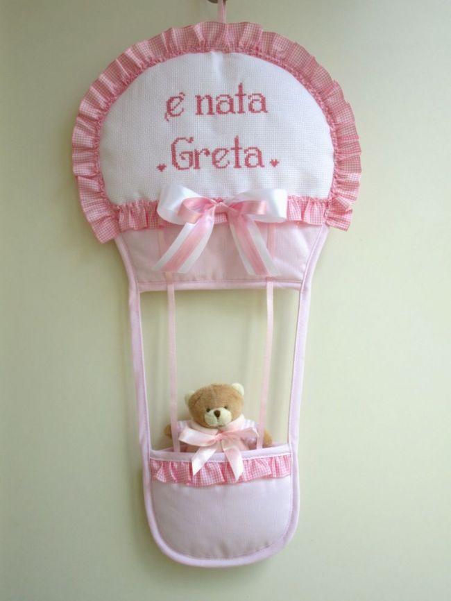 fiocco mongolfiera personalizzato per Greta