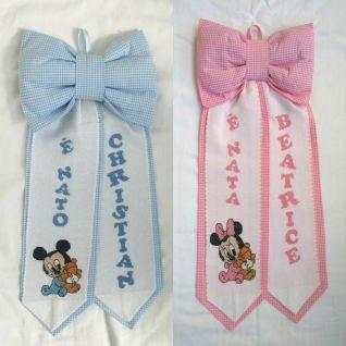 Fiocchi Disney Baby personalizzati per Christian e Beatrice