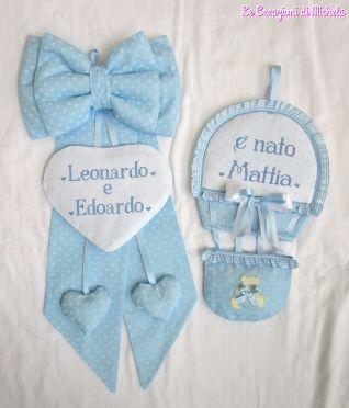 fiocchi nascita per Mattia,Leonardo e Edoardo
