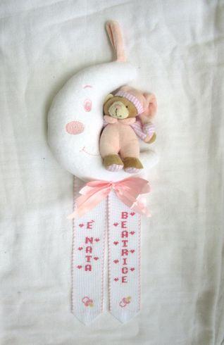 fiocco luna con orsetto personalizzato per Beatrice
