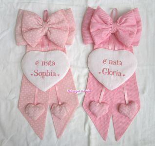 fiocco nascita per Sophia e Gloria