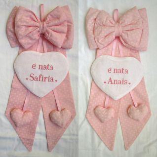 fiocco nascita personalizzati per Anais e Safiria
