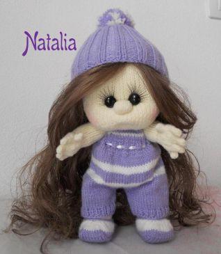 Bambola a maglia  - cappello