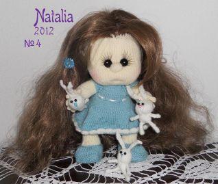 Bambola a maglia - nr. 4 vestitino e scarpine fatte ai ferri