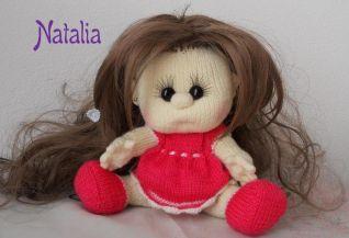 Bambola a maglia - vestito e scarpine ai ferri