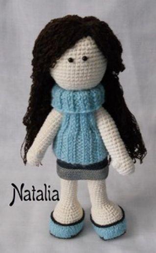 Bambola ad uncinetto - mia