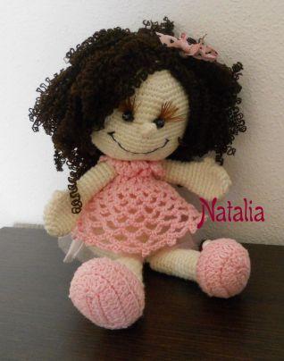 Bambola ad uncinetto (nuovi capelli)