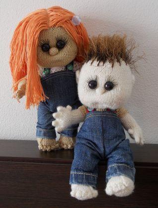 Bambolotti  con salopette in jeans - cucito