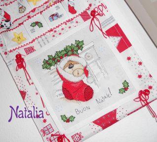 Calendario dell'Avvento - i miei schemi - Fizzy Moon nella calza natalizia