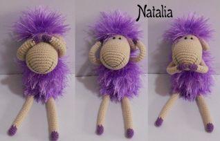 Pecorella-magliaia - 12 cm seduta