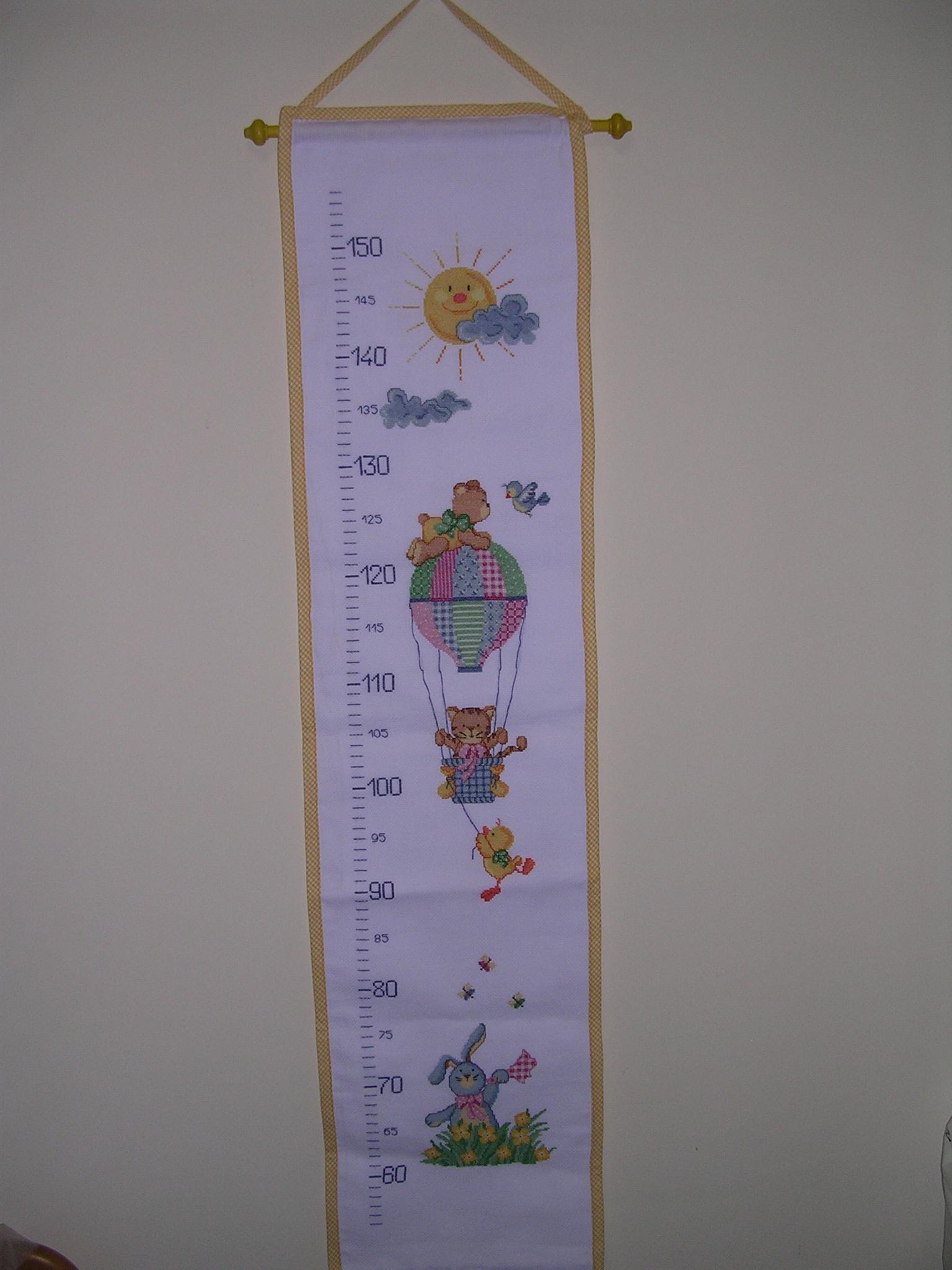 Schemi per metro crescita a punto croce ricamo bambino for Immagini punto croce per bambini