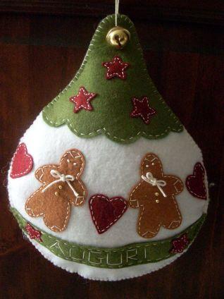 Palla di Natale in feltro