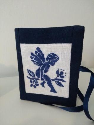 Porta-aghi con angelo blu