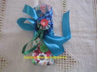Porta Uncinetti e trovaforbici con fiore yo-yo_particolare  fiore