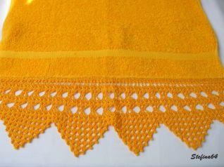 Asciugamano con punte a ventaglietti