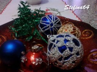 Palline di Natale all'uncinetto
