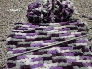 Sciarpa con la lana pon pon 4